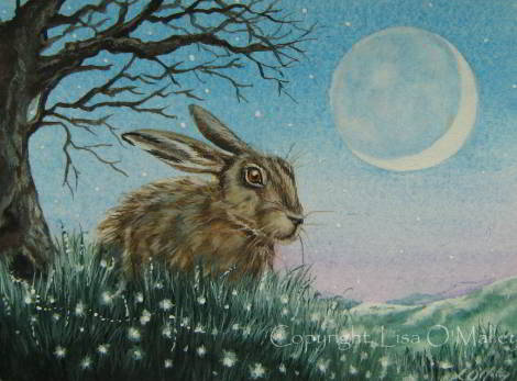 painting - Hare Frost