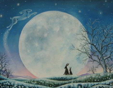 painting - Hare Tales of Winters Past