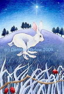 painting - Midwinter hare