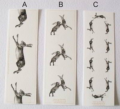 Jumping Hare Cards - Bookmark Options