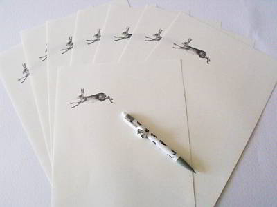 Running Hare Writing Set by Allie Giles