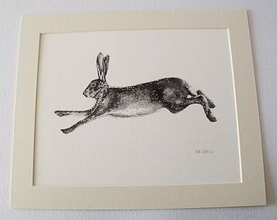 Running Hare Print by Allie Giles