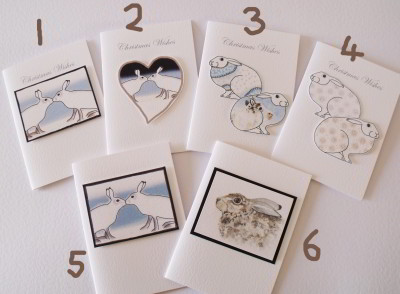6 designs, Christmas and Greetings cards.