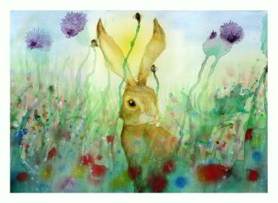 Hare Meadow I by claire barker