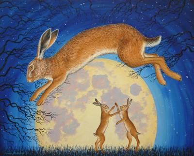 Leaping Moon Hare