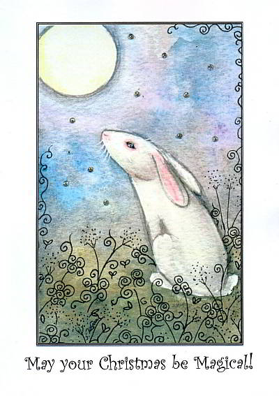 Starlight Hare Christmas Cards